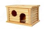Домик для мелких грызунов Red Plastic с плоской крышей