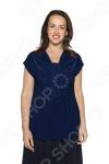 Блуза VEAS «Строгий лоск». Цвет: синий