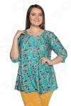 Блуза Лауме-Лайн «Сад чудес». Цвет: бирюзовый