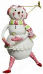 Елочное украшение-подвеска Crystal Deco «Снеговик-девочка»