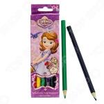 Набор толстых цветных карандашей Disney «София»: 6 цветов