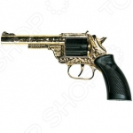 Пистолет Edison Giocattoli Dakota Metall Gold Western